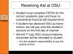 receiving aid at osu