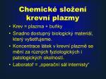 chemick slo en krevn plazmy