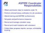 aspire coordinator responsibilities
