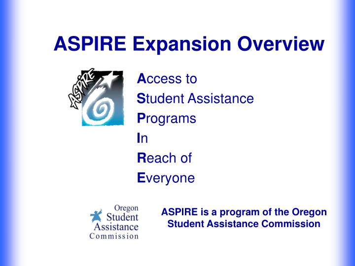 aspire expansion overview n.