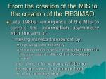 from the creation of the mis to the creation of the resimao1