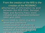 from the creation of the mis to the creation of the resimao3