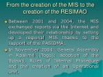 from the creation of the mis to the creation of the resimao4