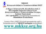 mkksz k rnyezetv delmi s term szetv delmi oszt1