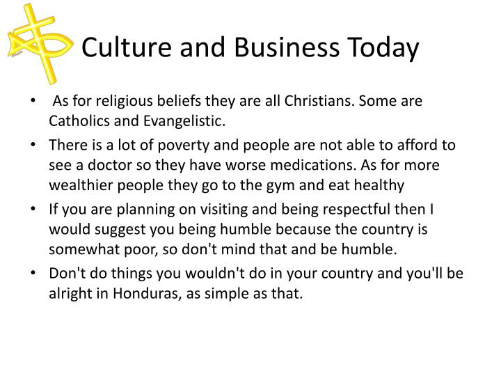 Culture and Business Today