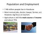 population and employment