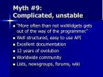myth 9 complicated unstable