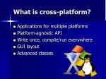 what is cross platform