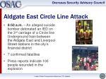 aldgate east circle line attack