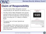 claim of responsibility1