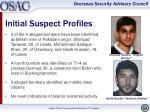 initial suspect profiles