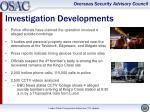 investigation developments