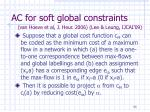 ac for soft global constraints