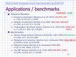 applications benchmarks