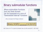 binary submodular functions