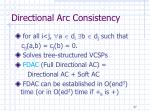 directional arc consistency