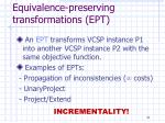 equivalence preserving transformations ept