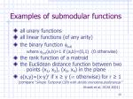 examples of submodular functions