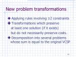 new problem transformations
