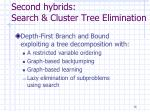second hybrids search cluster tree elimination