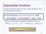 submodular functions