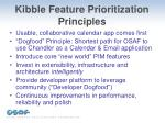 kibble feature prioritization principles