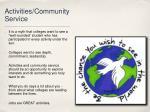 activities community service