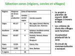 s lection zones r gions cercles et villages