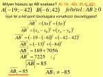 milyen hossz az ab szakasz a 19 42 b 6 42