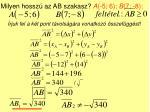 milyen hossz az ab szakasz a 5 6 b 7 8