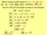milyen hossz az ab szakasz a 6 15 b 6 20