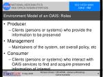 environment model of an oais roles
