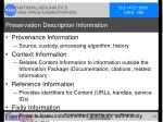 preservation description information
