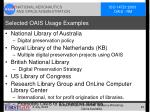 selected oais usage examples