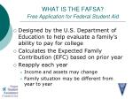 what is the fafsa free application for federal student aid