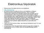 elektronikus foly iratok