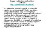 magyar irodalmi m vek ford t sai adatb zis http translations bookfinder hu