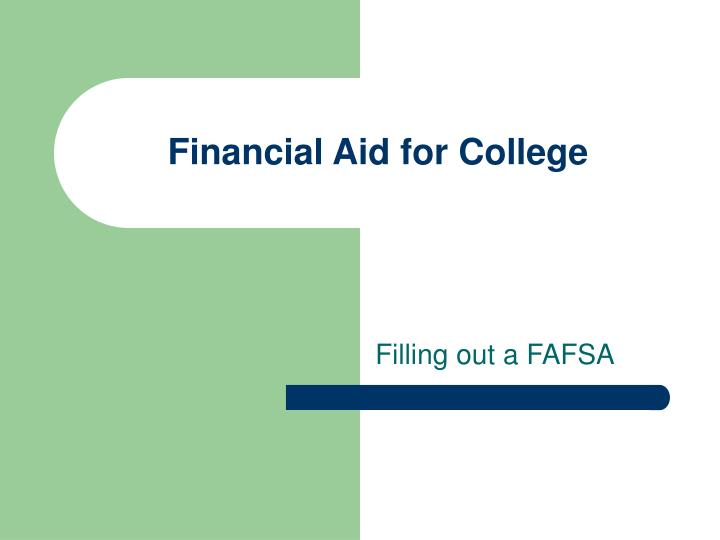 financial aid for college n.
