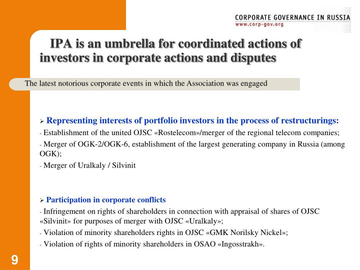 IPA is an umbrella for