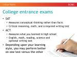 college entrance exams1