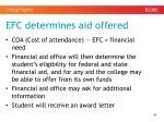 efc determines aid offered