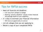 tips for fafsa success1