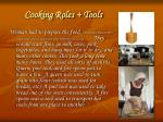 cooking roles tools