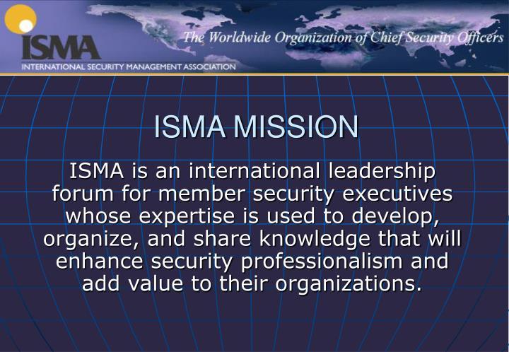 Isma mission
