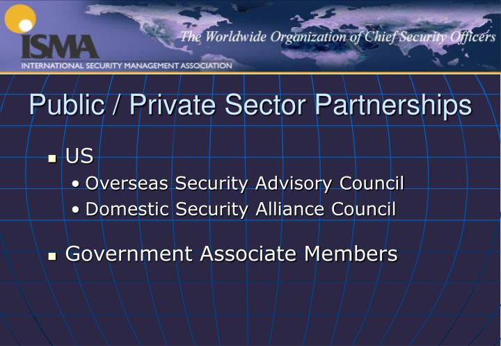 Public / Private Sector Partnerships