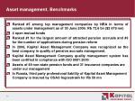 asset management benchmarks