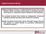 kapital investment group