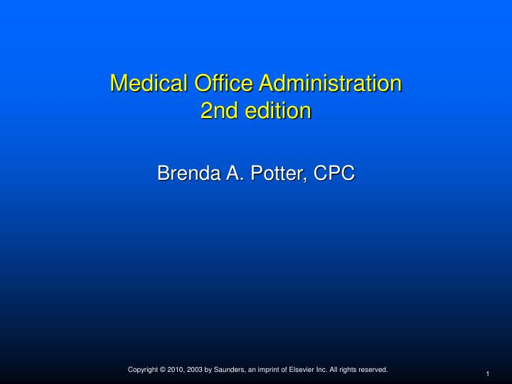 medical office administration 2nd edition n.