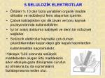 5 seluloz k elektrotlar