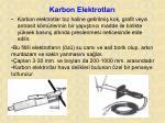 karbon elektrotlar